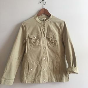 JJill fitted green utility jacket